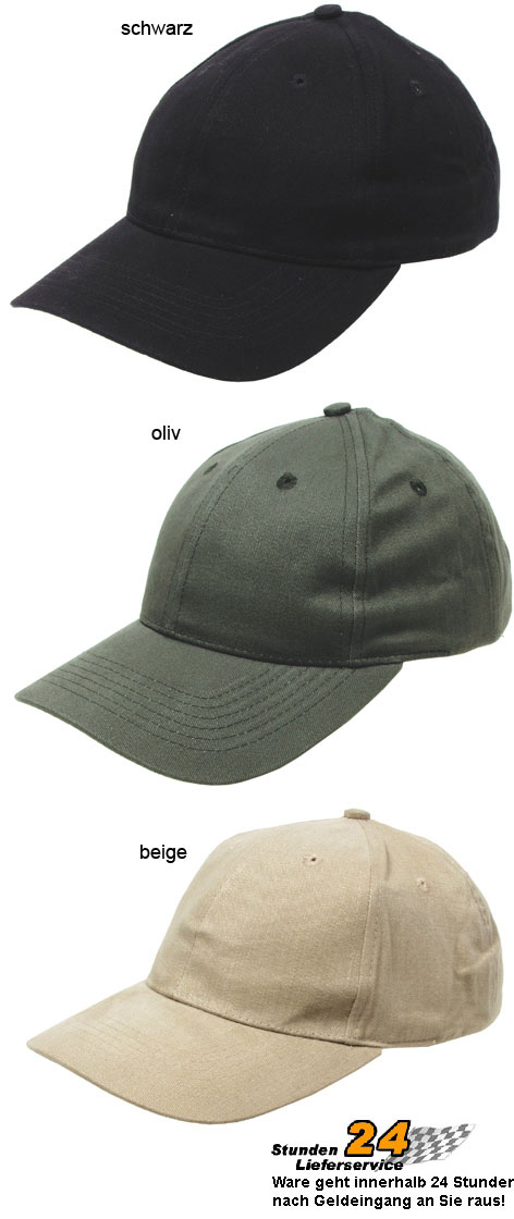 Premium-Baseball-Cap-Pro-Company-Baumwolle-Basecap-Schildmuetze-Muetze-gebrascht