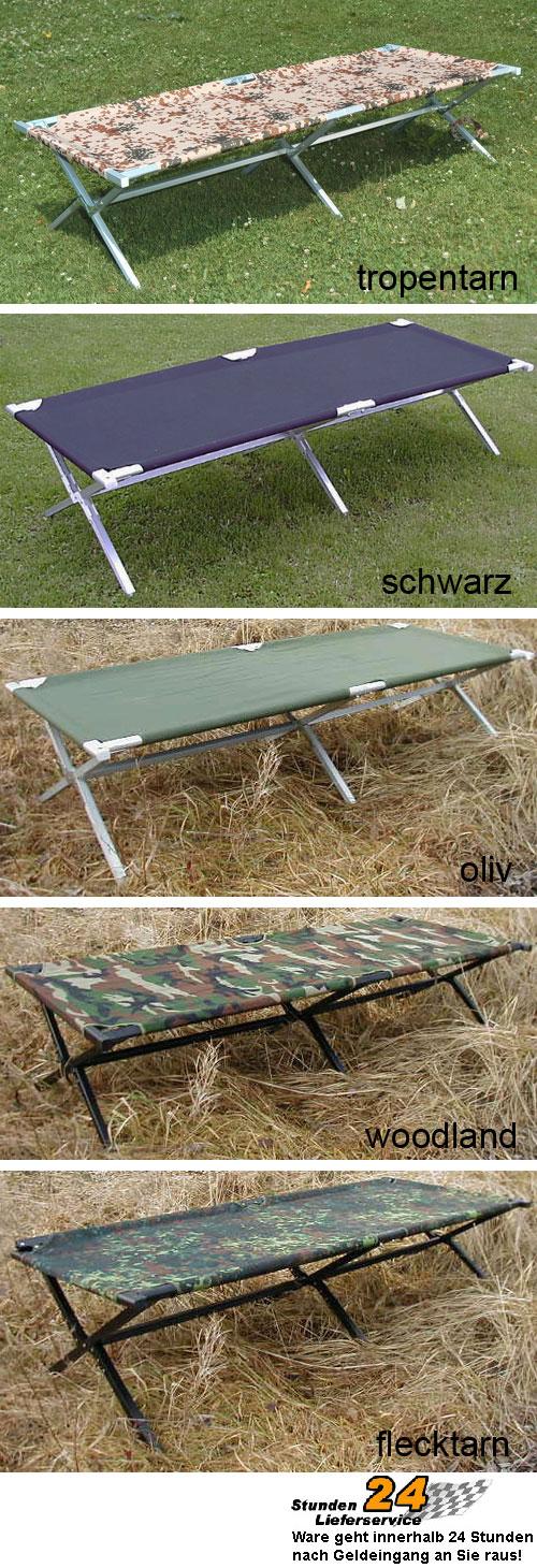 us army aluminium feldbett 150kg bundeswehr bett. Black Bedroom Furniture Sets. Home Design Ideas